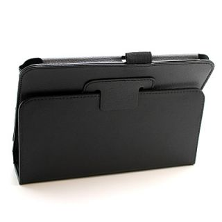 Black Leather Accessory Tablet Stand Case  Kindle Fire HD