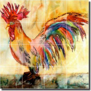 Neufeld Rooster Kitchen Backsplash Ceramic Tile Mural