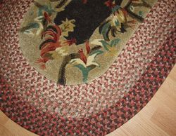 New Traditions Rooster 3x5 Braided Rug $180 Chicken Kitchen