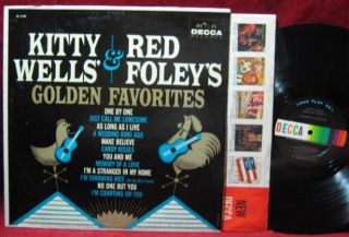 Kitty Wells Red Foley Golden Favorites LP Vinyl Record Album