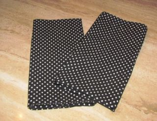 Mayhem Set of 2 Black Kitchen Towels with White Polka Dot Print