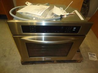 KitchenAid 30 Single Electric Convection Oven SS KEBS107SSS Scuffs on