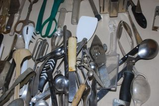 Large Lot Restaurant Kitchen Supplies Tools Forks Tongs Ladles Servers