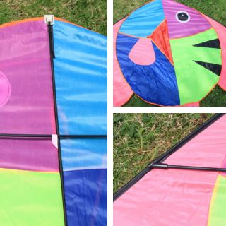 Kites Flat Fish Kite Long Tail Kite Outdoor Sport Park Beach Kite Toys