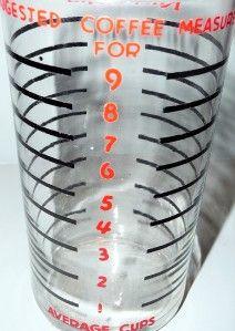 KitchenAid Coffee Mill Grinder Glass Measure Vintage NIB New in Box A9