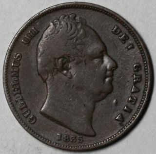 1835 Farthing King William IV Old US Money 1 4 Penny Great Britain Lot