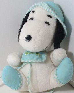 Vintage Knickerbocker Baby Snoopy Stuffed Plush Animal Bib Pram Very