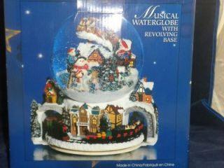 Kirkland Signature Musical Christmas Scene Snow or Water Globe w