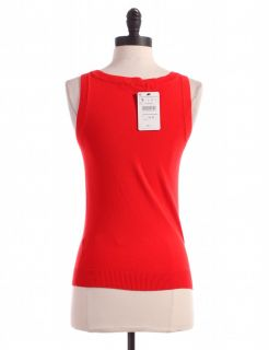 Zara Red Sleeveless Top Sz s Knit Shirt