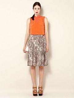 Biba Sleeveless lacework silk blouse Burnt Orange