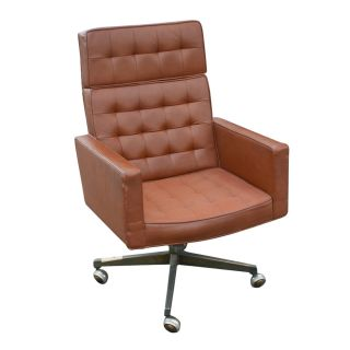 Knoll Vincent Cafiero Leather Executive Chair High Back