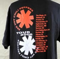Red Hot Chili Peppers Tour 2006 Mens T Shirt Large Black Stadium