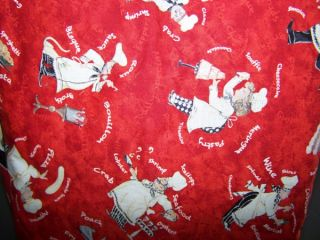 Chefs on Red Quilted Fabric Cover KitchenAid Mixer New