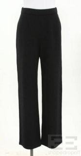 St John Collection Black Santana Knit Pants Size 4