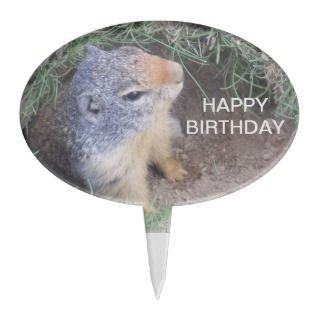 Groundhog Happy Birthday Cake Topper