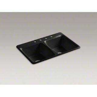 Kohler K 5815 4 7 Self Rimming Kitchen Sink Black