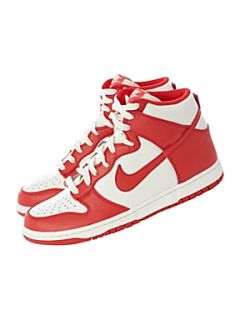 Nike High top dunk 08 trainer Red   House of Fraser