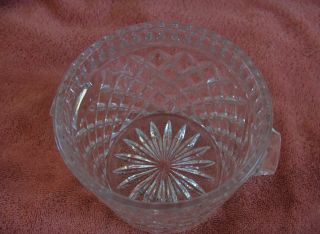 Fine Bohemian Crystal 24 Lead Cut Glass Hand Ice Bucket Diamond Czech