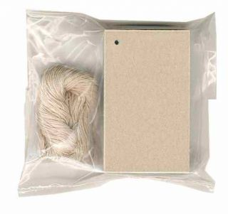 100 Blank Kraft Hang Tags 2 1 8x3 5 8 Price Strings