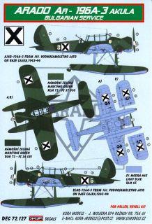 Kora Decals 1 72 Arado AR 196 Floatplane Bulgarian Air Force