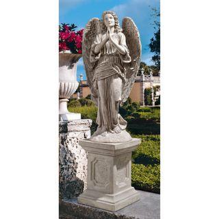 Peaceful Praying Angel Sculpture Garden Statue Grand Basilica