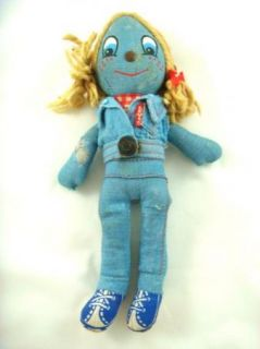 Vintage Red Line Levis Denim Rag Doll Knickerbocker