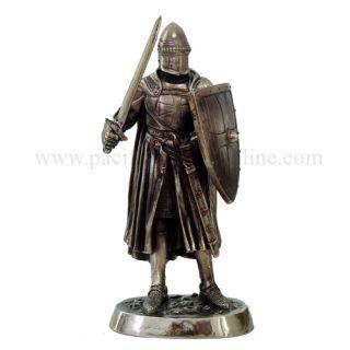 Medieval Knight 7H Crusader Melee Warrior Statue Figurine Suit of