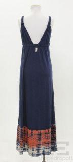 Gypsy Navy Blue Tie Dye Knit Maxi Dress Size XS