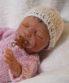 OOAK Hand Sculpted Newborn Baby Girl with Belly Plate by Melody Hess 3