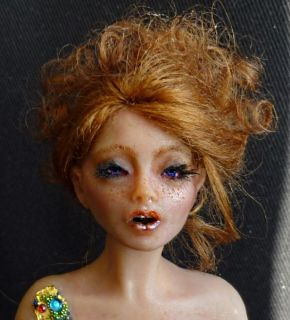 OOAK Art Doll Thumbelina Mini Sculpture by Kristiina Meiner Iadr Adsg
