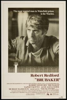 Brubaker 1980 Original U s One Sheet Movie Poster