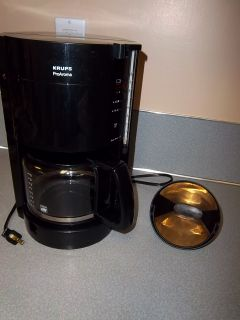 Krups Pro Aroma 10 Cup Coffee Maker Gold Filter Auto Shut Off Model