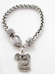 Koala Bear Crystal Fashion Chain Bracelet Jewelry