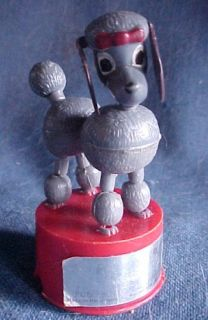 1960s Paulette The Poodle Dog Push Button Puppet Kohner Works