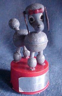 1960s Paulette The Poodle Dog Push Button Puppet Kohner Works