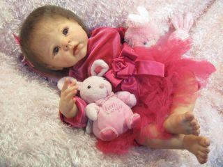 Krista Linda Murray Helen Jalland Reborn Baby Girl Doll 3 4 Limbs OOAK