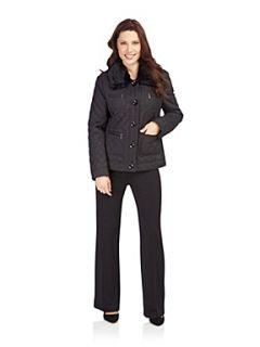 Precis Petite Black quilted coat Black