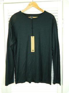 New Ksubi BNWT Mens Black Bull Ring Tee L Sleeves T Shirt Sz L