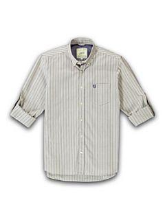 Racing Green Striped long sleeve shirt Aqua