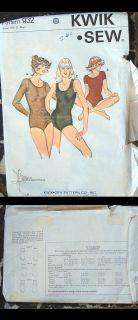 Kwik Sew 932 Vtg 70s Sewing Pattern Sz s XS M L Hippie Leotard Cut