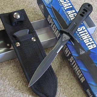 Special Agent Stinger II Tactical Boot Knife w Sheath Clip United
