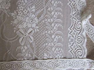 Victorian Design c1910 Cream Lace Curtain Panel Kyle 2 1M 84