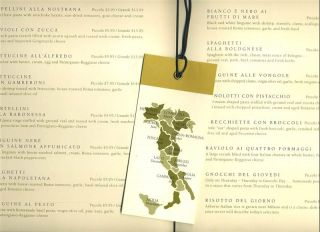 Menu Serale 8 Pages in Hard Cover Italian Restaurant