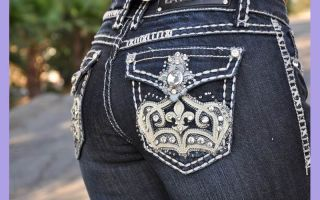 DARK BLUE Boot cut jeans from LA IDOL JEANS