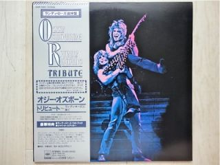 OZZY OSBOURNE / RANDY RHOADS TRIBUTE JAPAN 2LP / OBI, BLACK SABBATH