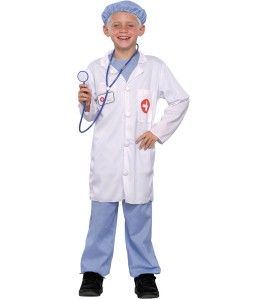 Doctor Scrubs Lab Coat Child Costume Surgeon Kids Dress Up