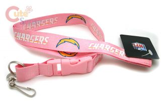 San Diego Chargers Lanyard Key Chain ID Holder Pink