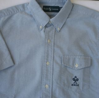 85 Ralph Lauren Blue Oxford Shirt Mens Size XXL