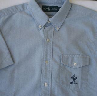 85 Ralph Lauren Blue Oxford Shirt Mens Size XXL