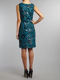 Shubette Sequin shift dress Emerald